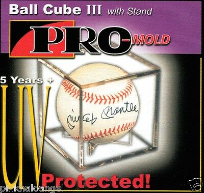 24 Pro Mold Baseball Cube III Holder Display Case with Ball Cradle  UV SAFE