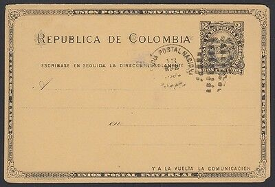 COLOMBIA, 1894. Post Card H&G 13, Panama