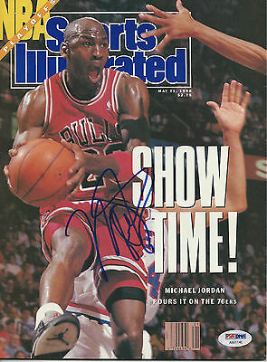 MICHAEL JORDAN (Bulls) Signed SPORTS ILLUSTRATED with PSA LOA (NO Label) 5/21/90