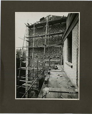Tirage photo ancienne New York Perspective Immeuble flamme incendie 10 x 15 cm