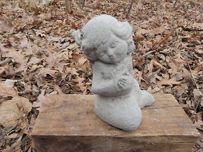 "Cement 5"" The Little Mermaid Art Statue Weathered Concrete  Super Cute!!"