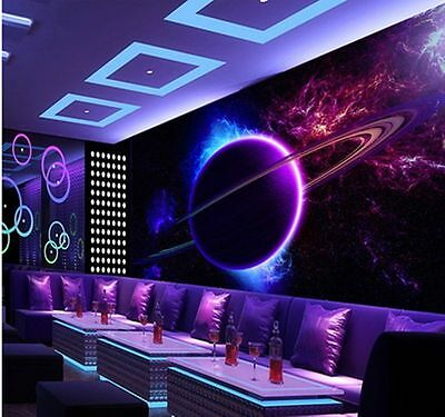 3D Wallpaper Bedroom Mural a living room Space star TV Background wall BJ1326
