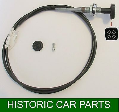 LHD CHOKE CABLE, Grommet & Cable Clamp for TRIUMPH SPITFIRE 1.3 1300 1967-74