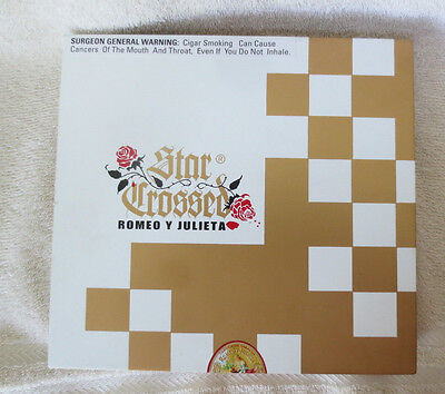 Romeo Y Julieta Star Crossed Balcony Wood Cigar Box Gold & White - Beautiful !