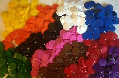 Spring Sale 100 x 22mm Tokens Plastic Board Game Counters Tiddly winks Numeracy