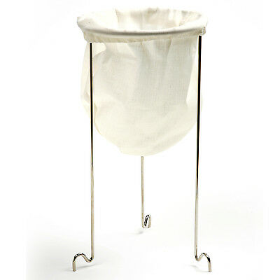 "Norpro STRAINER STAND WITH Cotton BAG 12"" x 6.5"" Canning Preserving Jam/Jelly"