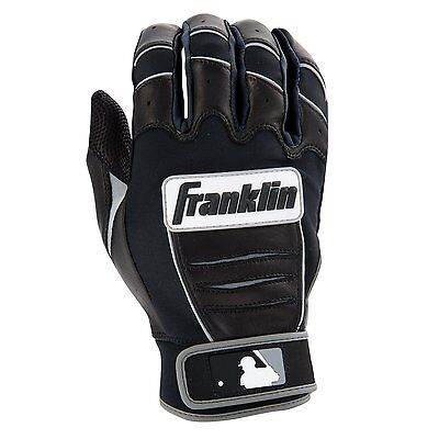 Franklin Sports CFX Pro Batting Gloves Black Xlarge Pittards Digital Sheepskin