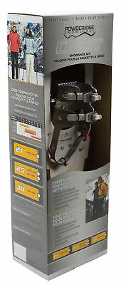 "POWDERIDGE CREST KIT Women's 8 X 21"" Snowshoes Adjustable Poles Bag White NEW"
