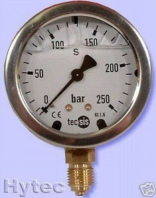 Manometer Stainless steel NG63 Glycerine filling