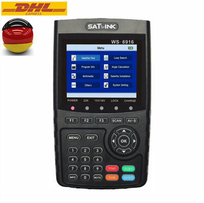 Profi Satlink WS-6916 DVB-S/S2 HD Satellite Messgerät DVB Digital TV Satfinder