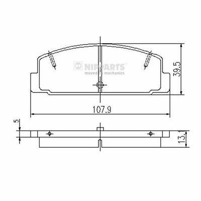 To Clear - New Oe Quality Nipparts - Rear - Brake Pads Set - J3613002