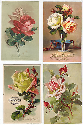 12 Art Cards of Catherine Klein, Roses, issued in Europe from 1900 - 1930s