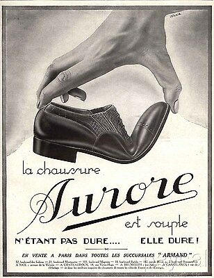 1928 Ad Print Chaussures AURORE Shoes