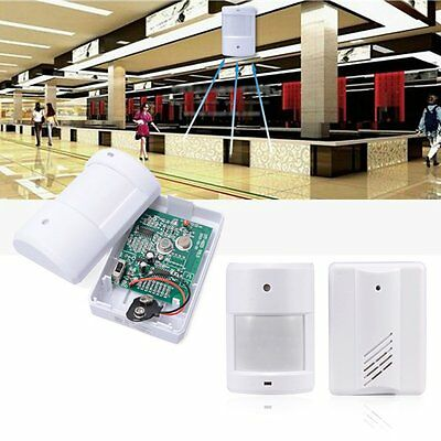 Wireless Door Bell Infrared Welcome Guest Alarm Chime Motion Sensor Detector