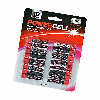 16 PK Powercell AAA Batteries Remote Control Torch Camera Game Toy Battery 2018
