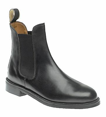 Roamers Mens Gusset Jodhpur Equestrian Riding Leather Boots Shoes Brown Black