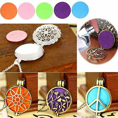 DIY Fragrance Essential Oil Aromatherapy Diffuser Retro Locket Pendant Necklace