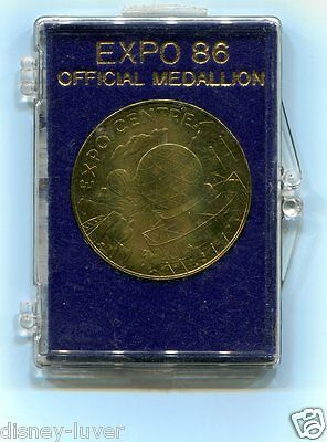 EXPO 86 VANCOUVER Worlds Fair OFFICIAL MEDALLION in orig case