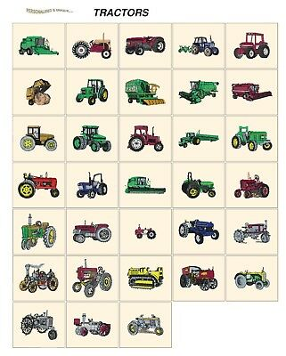 TRACTORS. CD or USB machine embroidery designs files many formats pes jef