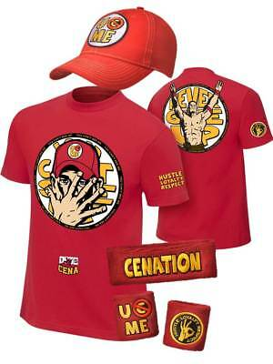 4531c9f364c22a JOHN CENA KIDS Red Costume Hat T-shirt Wristbands Boys - $44.99 ...