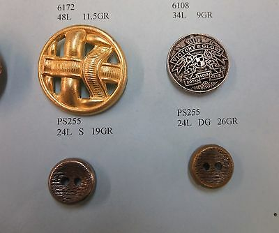 Metal Vintage Antique Buttons Sew on craft button Garment Buttons assorted 12pcs