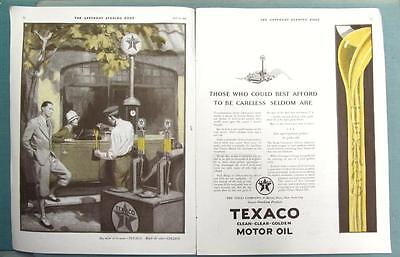 Original 1927 Texaco Ad THOSE WHO COULD BEST AFFORD TO BE CARELESS...SELDOM ARE