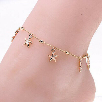 Fashion Women Starfish Chain Anklet Bracelet Barefoot Sandal Foot Jewelry New