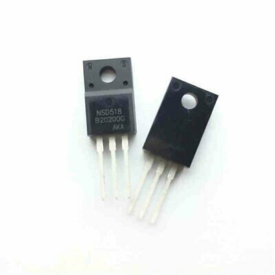 5PCS MBRF20200CT B20200G 20A 200V Dual High-Voltage Power Schottky TO-220F