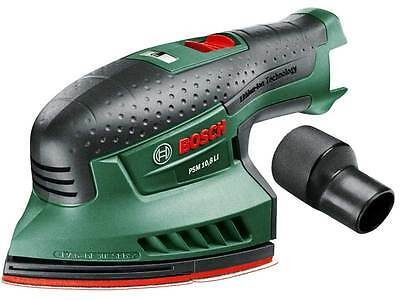 Bosch PSM 10.8 LI 10.8v Cordless Multi Sander Bare Unit + 3 Sanding Sheets