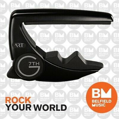 G7th G7 Black Performance 2 Guitar Capo for Steel 6-String Acoustic or Electric