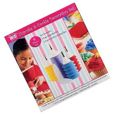 New 8pc Cupcake And Cookie Decoration Set Icing Frosting Desert Tools