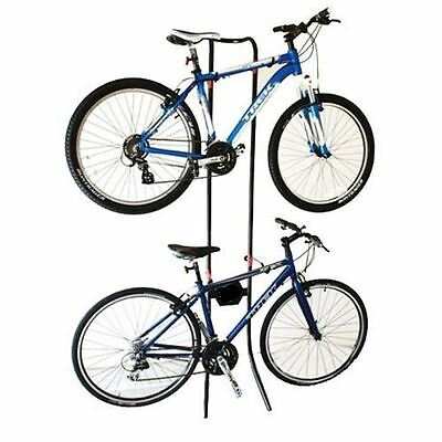 Gravity Bicycle Rack Storage Stand Bike Cycle Holds 2x Bikes Adjustable