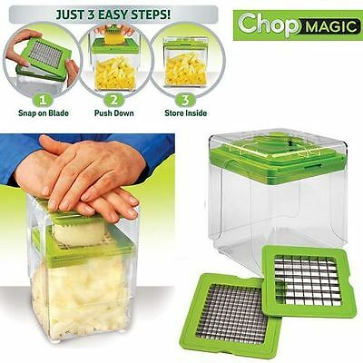 Chop Magic Vegetable Salad Fruit Cutter Dicer Slicer Container Tool Chopper