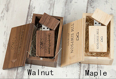Carved Custom Wooden USB Stick Photo Storage Flash Drive Wedding Pendrive Box