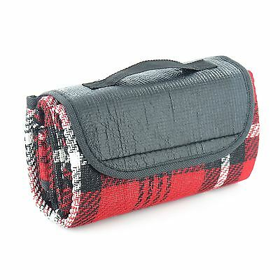 Picnic Tartan Folding Blanket Camping Festival Beach Rug Outdoor Travel Mat