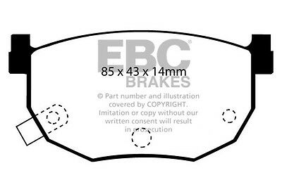 HYUNDAI Coupe EBC OE Spec Front and Rear Brake Pads 2.0 2002-2009