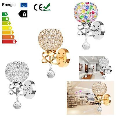 Modern Fashion Chrome Crystal Wall Mounted Light Sconce Chandelier Lamp Fixture
