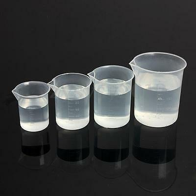 Kitchen Laboratory Lab Test Plastic Graduated Measuring Beaker Cup Container