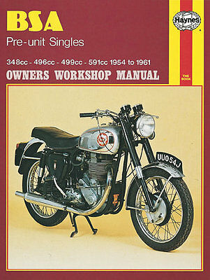 Haynes Manual No. 0326 Motorbike/Motorcycle for BSA CB/DB/DBD34 Goldstar 54-61
