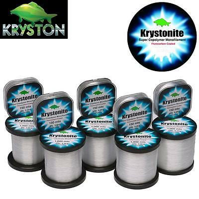Kryston Krystonite 1000m & 150m Super Fluorocarbon Copolymer Coated Carp Line