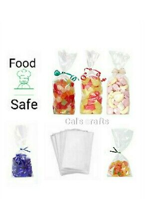 """100 x 4"""" x 6"""" CLEAR CELLO DISPLAY BAGS FOR LOLLIPOPS, CAKE POPS, SWEETS"""