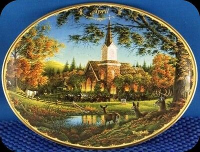 Terry Redlin April Sunday Morning Collector Plate