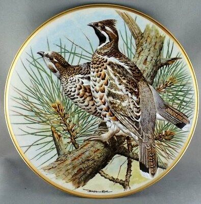 Basil Ede Hazel Grouse Gamebirds of the World Collector Plate Limoges
