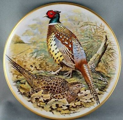 Basil Ede Chinese Ring-necked Pheasant Gamebirds World Collector Plate Limoges