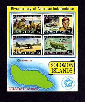 Solomon Is - 1976 - Bicentennial - Kennedy - Pt-109 - Ww Ii - Mnh - S/sheet!