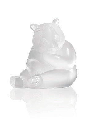 Lalique Panda Figure Clear Brand New In Box #1205200 French Crystal Save$ F/sh