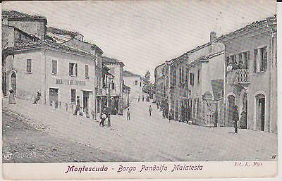 Montescudo Rimini Borgo Pandolfo Malatesta Animata 1907 Super !