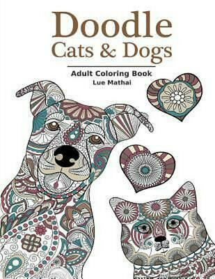 Doodle Cats Dogs Adult Coloring Book Stress Relieving And Designs