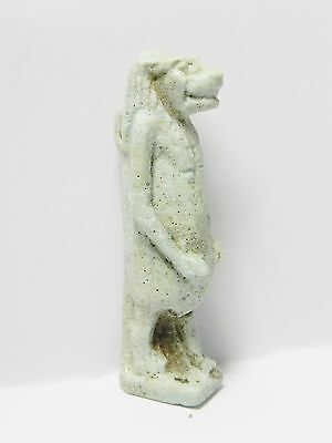 Zurqieh -Q201- Ancient Egypt , Large & Beautiful Faience Tawaret. 1075 - 600 B.c