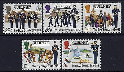 1983 Guernsey Centenary Of The Boys Brigade Set Of 5 Fine Mint Mnh/muh